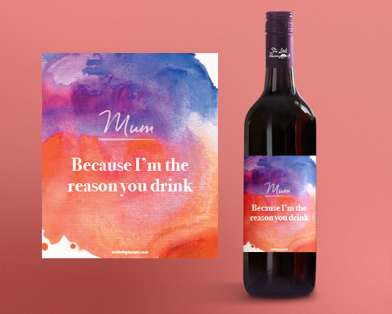 image about Printable Wine Label named Printable Wine Label: Mum. Mainly because Im the purpose by yourself consume